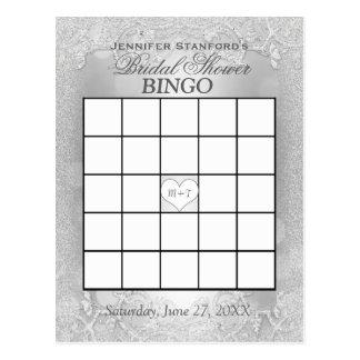 Bridal Shower Bingo | Silver Elegance Postcard