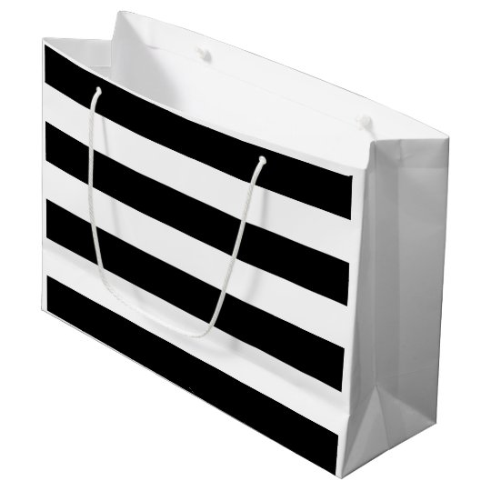 Bridal Shower Black and White Stripe Large Gift