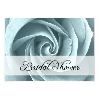 bridal shower : blue rose 9 cm x 13 cm invitation card