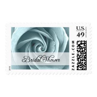 Bridal Shower : Blue Rose : Postage Stamp