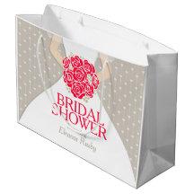Bridal shower bride personalised gift bag large gift bag