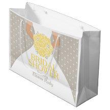 Bridal shower bride personalized gift bag large gift bag