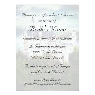 Bridal Shower, Castle Themed Wedding 14 Cm X 19 Cm Invitation Card
