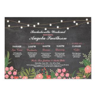 Bridal Shower Chalk Coral Itinerary Bachelorette 13 Cm X 18 Cm Invitation Card