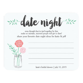 Bridal Shower Date Night Idea Card | Mason Jar