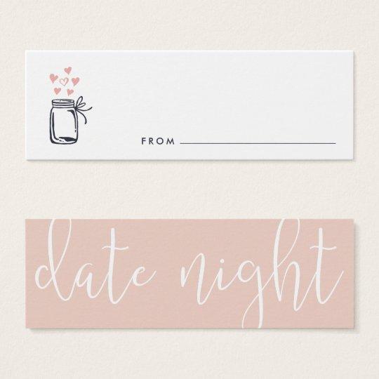 Bridal Shower Date Night Jar Cards