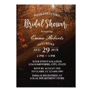 Bridal Shower Elegant Autumn Forest Card
