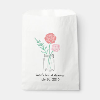 Bridal Shower Favor Bags | Botanical Mason Jar