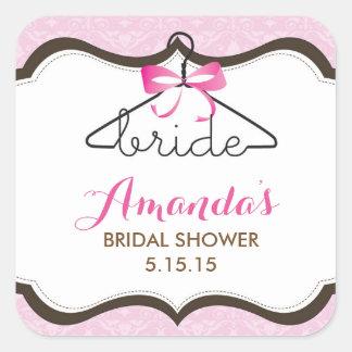 Bridal Shower Favor Labels Square Sticker