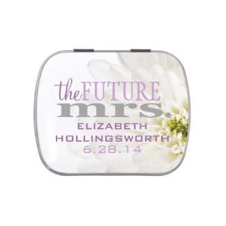 Bridal Shower Favor-Mints Jelly Belly Tin