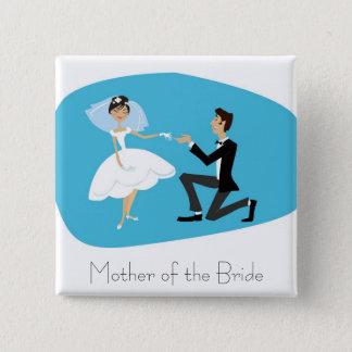 Bridal Shower Favor-Mother of the Bride 15 Cm Square Badge