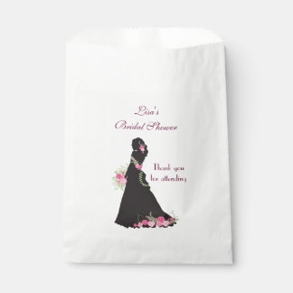 Bridal Shower Favor Silhouette Favour Bags