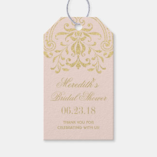 Bridal Shower Favor Tags | Gold Vintage Glamour