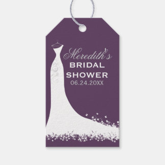 Bridal Shower Favor Tags | Wedding Gown