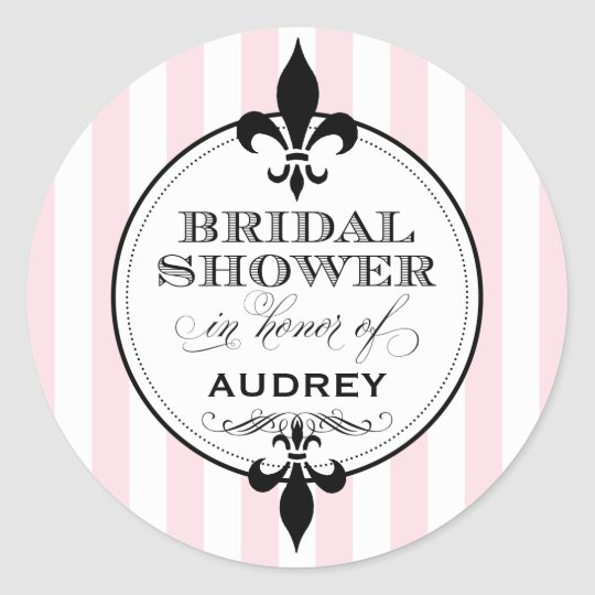 Bridal Shower Favour Sticker | Fleur de Lis