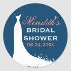Bridal Shower Favour Sticker | Wedding Gown