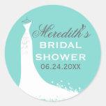 Bridal Shower Favour Sticker | Wedding Gown