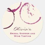 Bridal Shower Favour Sticker | Wine Theme