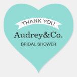 Bridal Shower Favour Stickers | Aqua Blue
