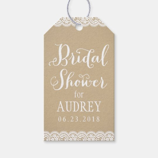 Bridal Shower Favour Tag | Lace and Kraft