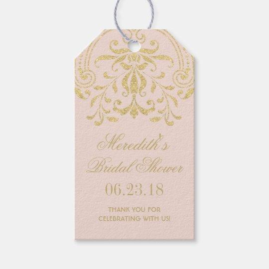 Bridal Shower Favour Tags | Gold Vintage Glamour