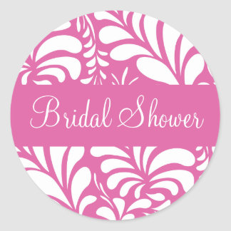 Bridal Shower Fern Flora Sticker Seal