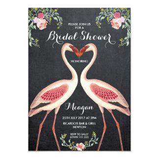 Bridal Shower flamingo invitation chalkboard