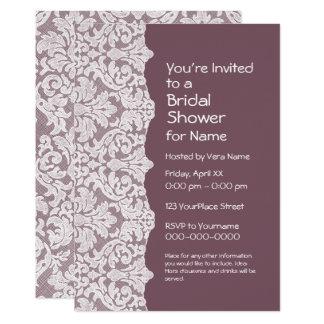 Bridal Shower: Floral Lace Pattern Card