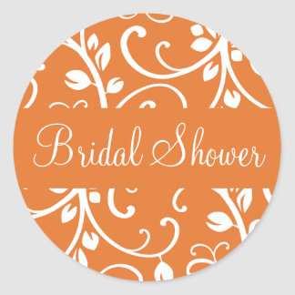 Bridal Shower Floral Vine Envelope Sticker Seal