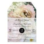 Bridal Shower French Flower Market Peony Hydrangea 13 Cm X 18 Cm Invitation Card