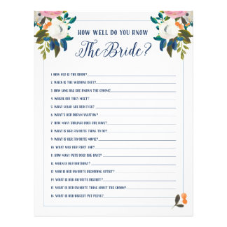 Bridal Shower Games How Well Do You Know The Bride Flyer