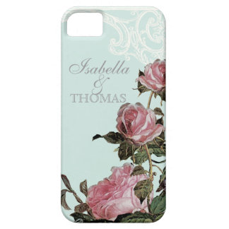 Bridal Shower Gift Matching, Trellis Rose Vintage iPhone 5 Case