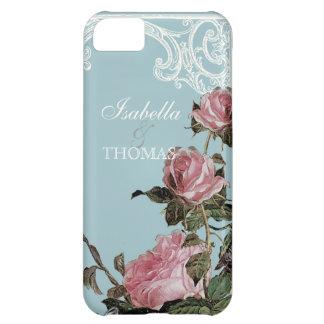 Bridal Shower Gift Matching Trellis Rose Vintage Case For iPhone 5C
