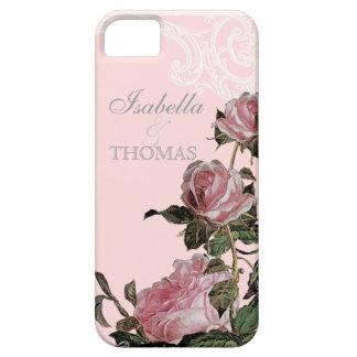 Bridal Shower Gift Matching, Trellis Rose Vintage iPhone 5 Cover