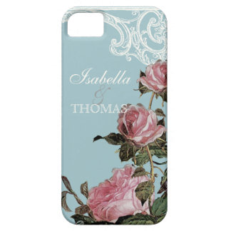 Bridal Shower Gift Matching, Trellis Rose Vintage iPhone 5 Covers