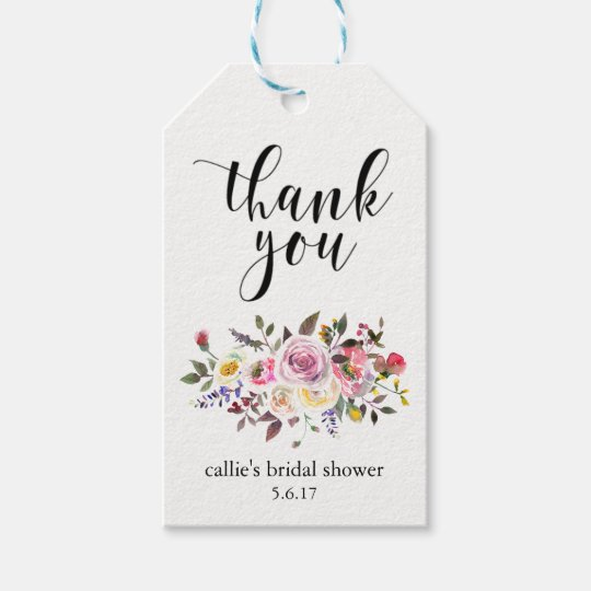 Bridal Shower Gift Tags for Party Favours Floral