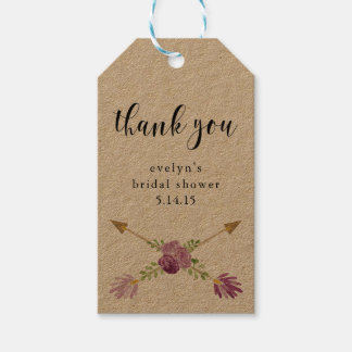 Bridal Shower Gift Tags Party Favors Arrow Rustic