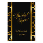 Bridal Shower Giraffe Pattern With Gold Lettering Card