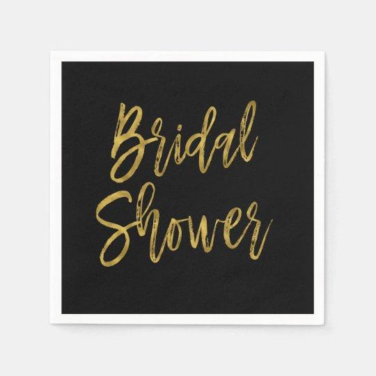Bridal Shower Gold Foil Birthday Napkins Disposable Napkin