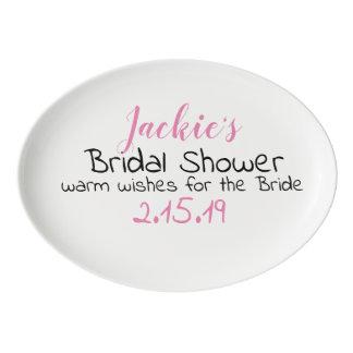 bridal shower guest book porcelain serving platter