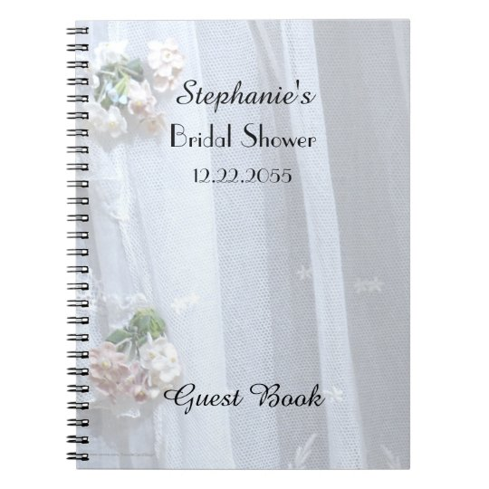 Bridal Shower Guest Book, Vintage Lace Notebook