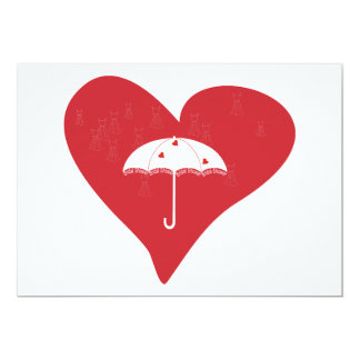 Bridal Shower Heart Card