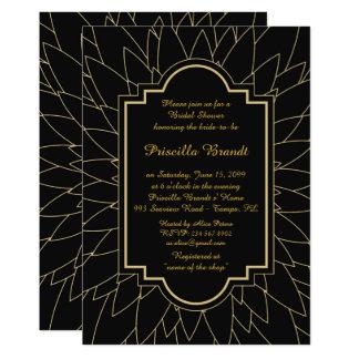 Bridal Shower Honoring, Monet's Dahlia style,black Card
