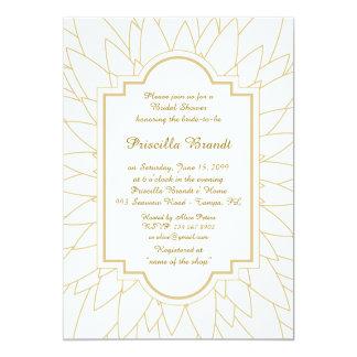 Bridal Shower Honoring, Monet's Dahlia style,white Card