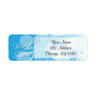 Bridal Shower in a Blue and White Return Address Label