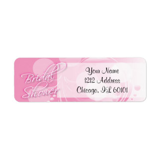 Bridal Shower in a Pretty Pink and White Return Address Label