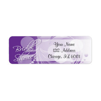 Bridal Shower in a Purple and White Return Address Label