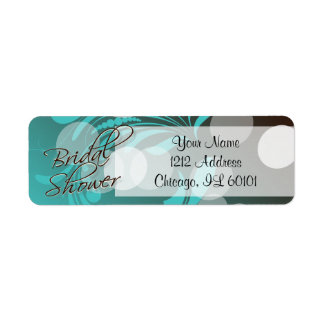 Bridal Shower in a Turquoise Blue and Brown