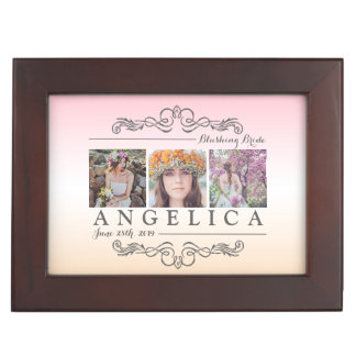 Bridal Shower Instagram Wedding Ombre Photo Grid Keepsake Box