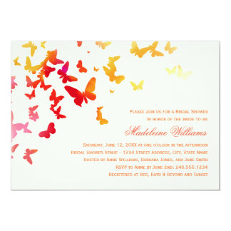 Bridal Shower Invitation | Fluttering Butterflies Personalized Invites